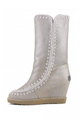 Mou Eskimo Frech Toe Wedge Tall para Mujer